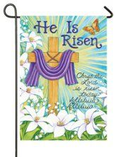 He Is Risen, Cross and Lilies Flag, Small School Study Tips, Easter Cross, He Is Risen, Garden Flags, Happy Easter, Special Events, Lily, Seasons, My Love