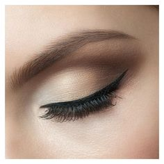 How to Apply Eye Liner Flawlessly ❤ liked on Polyvore featuring beauty products, makeup, eye makeup, eyeliner and beauty