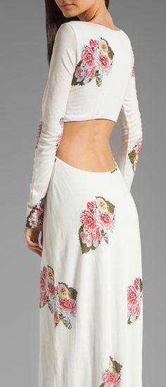 Open back floral maxi