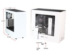 NZXT CA-S340W-W1 White Steel ATX Mid Tower Computer Case - Newegg.com