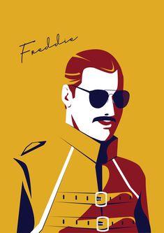 Queen Poster, Freddie Mercury poster- Queen poster- Music poster Rock start poster -freddie mercury pic A statement in any room. Freddie Mercury Quotes, Queen Freddie Mercury, Art Deco Artwork, Wall Art, Mr Fahrenheit, Art Nouveau Mucha, Arte Van Gogh, Queen Drawing, Queen Poster