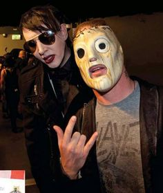 Corey Taylor & Marilyn Manson Awesome