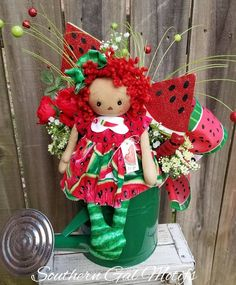 Your place to buy and sell all things handmade Christmas Arrangements, Christmas Centerpieces, Floral Centerpieces, Flower Arrangements, Watermelon Patch, Seasonal Decor, Holiday Decor, Wreath Supplies, Christmas Wreaths