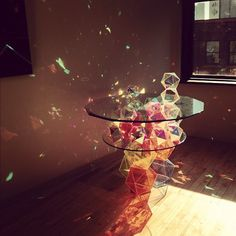 Sparkle Palace Cocktail table.  I think it would be so calming to just lie there and look at all the colors the crystals make in the sunlight. ♥