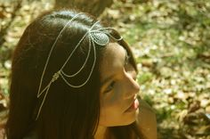 Excentric drop silver headpiece Available at www.funnypeopleco.com  #boho #bohemian #fashion
