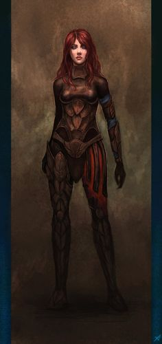Character concept - Rogue by ~Aerenwyn on deviantART -- AU Natasha Romanoff