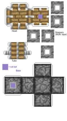Piston! Minecraft cenários