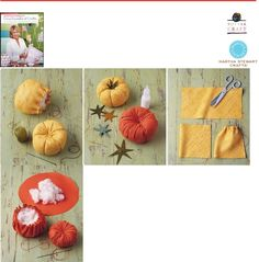 Heirloom Tomato Pincushion Project - from Martha Stewarts Encyclopedia of Sewing and Fabric Crafts