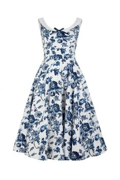 c9511c585b41 Collectif Vintage Maddison Toile Floral Print Swing Dress