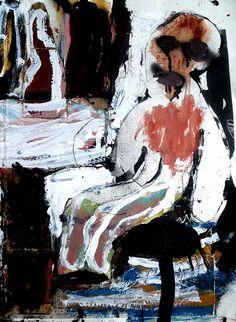 sitting man by Shohei Hanazaki Drawing Sketches, Drawings, Outsider Art, Japanese Artists, Figurative Art, Abstract Expressionism, Art World, Art Inspo, Painting & Drawing