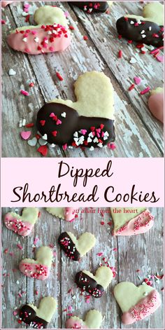 Dipped Shortbread Cookies - An Affair from the Heart