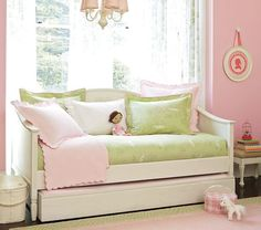 Girls Daybed With Trundle Love These Quilts Amp Cushions