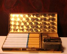 Art Deco Pigeon Cigarette Lighter and Case Combo Set by TheLeafery on Etsy, $175.00