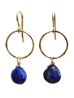 Lapis Lazuli Full Circle Earrings
