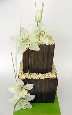 orchid wedding cake | Flickr: Intercambio de fotos
