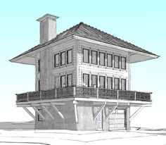 The Lookout – a new custom home in West Glacier Mountain New House Plans, Small House Plans, House Floor Plans, Cabin Homes, Log Homes, Amazing Architecture, Architecture Design, Jardin Decor, Tower House