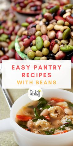 Canned and dried beans are some of the most commonly stocked pantry staples – here are some clever recipes, ideas and inspo on ways to use them! Giada Recipes, Fun Recipes, Easy Dinner Recipes, Dinners To Make, Easy Weeknight Dinners, Quick Easy Meals, Healthy Meals, Healthy Eating, Healthy Recipes