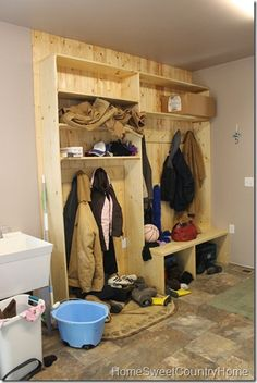 Amazing Basement Work Clothes Storage