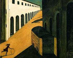 Mystery and Melancholy of a Street - Giorgio de Chirico - - one of my favorite surrealist painters. ~ETS