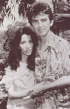 George Harrison And His Wife Olivia Arias