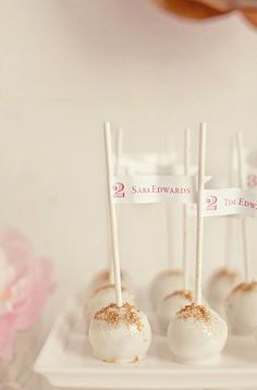 Cake Pop Escort Cards