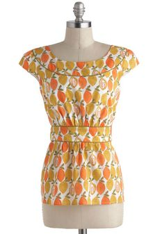 Cool With Me Top in Citrus, #ModCloth