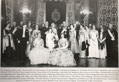 RoyalArjan (@RoyalArjan) on Twitter: Crown Princess Margrethe's 18th birthday, April 16, 1958-seated Queen Ingrid and Crown Princess Margrethe with King Frederik IX and Princess Anne-Marie and Princess Benedikte and other family members and royals behind them