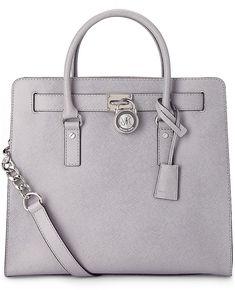 Luxus Tasche HAMILTON von Michael Kors in grau hell für Damen. Gr. 1