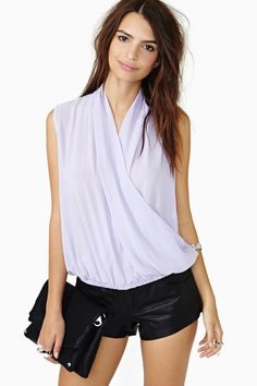 Sweet Wrap Top - Lilac | selected by jamesdrygoods.com for the made in america: contemporary project | #madeinusa |
