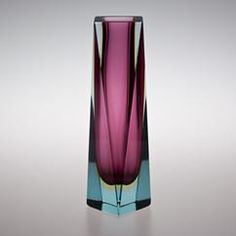 Twisted Murano Sommerso Glass Vase