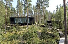 Cabins And Cottages: Lakeside House / NOW for Architecture and Urbanism. Nature Architecture, Architecture Company, Installation Architecture, Building Architecture, Tyni House, Pole House, Cabins And Cottages, Cabins In The Woods, Cabana