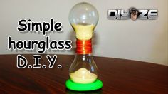 HOW TO MAKE AN HOURGLASS (out of light bulbs)