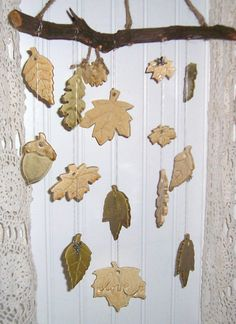 clay wind chimes, pretty little things that jingle and bingle.. Great ideas