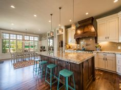Lane Myers Construction Custom Home Builder-kitchen and windows