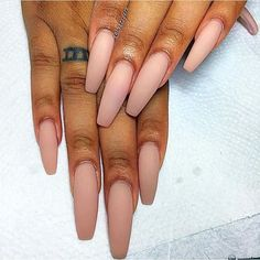 Nude Coffin Nails!