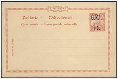 German Colonies, DP-Samoa 1914, Britische Besetzung, G. R. I. 1 d. auf 10 Pfg.-GA-Postkarte, ungebraucht Pracht, (Mi.-Nr.P 2/Mi.EUR 160,--). Price Estimate (8/2016): 50 EUR.