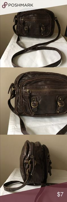 Mossimo soft brown vegan leather crossbody bag Soft brown vegan leather crossbody bag - zipper closure - utility look - great condition Mossimo Supply Co. Bags Crossbody Bags