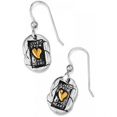 Living Heart French Wire Earri SIL - SIL