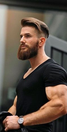 Facial hair is an important aspect of any man's styling game. Hence we have some easy to achieve different men's facial hair styles. Mens Hairstyles With Beard, Haircuts For Men, Cool Hairstyles, Beard Styles For Men, Hair And Beard Styles, Hair Styles, Hair Style For Men, Short Beard Styles, Beard Styles Pictures