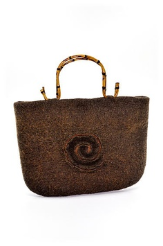 Brown felt bag 27X37 cm by FSheep on Etsy, €75.00