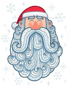 Buy Santa Portrait 2 by Malchev on GraphicRiver. Cartoon portrait of Santa Claus. Christmas Images, Christmas Art, Christmas Clipart, Christmas Cartoons, Xmas, Cartoon Drawings, Cute Drawings, Christmas Illustration, Illustration Art