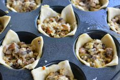 Mushroom Cheese Puff Bites. Buttery, cheesy, tasty little cups of mushroom filled pastry. from willcookforsmiles.com