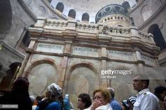 People visit The tomb of Jesus Christ with the rotunda is seen in the Church of the Holy Sepulchre on March 21 2017 in Jerusalem Israel The tomb of... Jesus Tomb, Jesus Christ, Stock Pictures, Stock Photos, Jerusalem Israel, Holy Land, Royalty Free Photos, Louvre, Explore