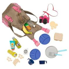 Our Generation® Hiking Accessories - What a Trek Set™ Our Generation Hiking Gear Doll Accessories American Girl Accessories, Barbie Accessories, Accessories Online, Doll Crafts, Diy Doll, Our Generation Doll Accessories, Poupées Our Generation, American Girl Doll Sets, American Girl Crafts