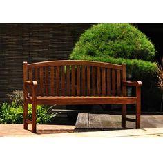 Banc de jardin en teck huilé - 120 cm