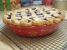 Mixed Berry Pie, using frozen berries when fresh are out of season.