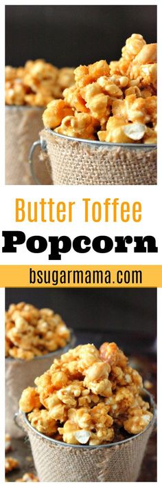 This Butter Toffee Popcorn recipe is perfect to give as a. This Butter Toffee Popcorn recipe is perfect to give as a holiday gift. This Butter Toffee Popcorn recipe is easy buttery and covered with toffee flavor. Popcorn Snacks, Popcorn Recipes, Snack Recipes, Dessert Recipes, Cooking Recipes, Flavored Popcorn, Oreo Popcorn, Popcorn Bowl, Homemade Popcorn