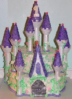 fairytale princess castle cake | cake, princess castle and