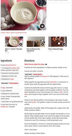 Alton Brown's Instant Pancake Mix