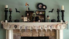 Halloween decorations : IDEAS &INSPIRATIONS  Halloween Mantel
